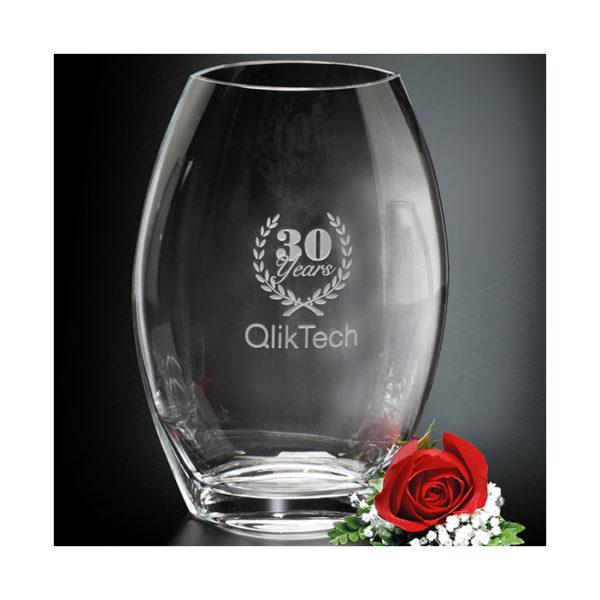 Crystal Clear_oval_Vase