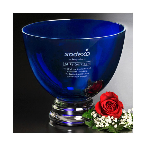 Crystal cobalt bowl