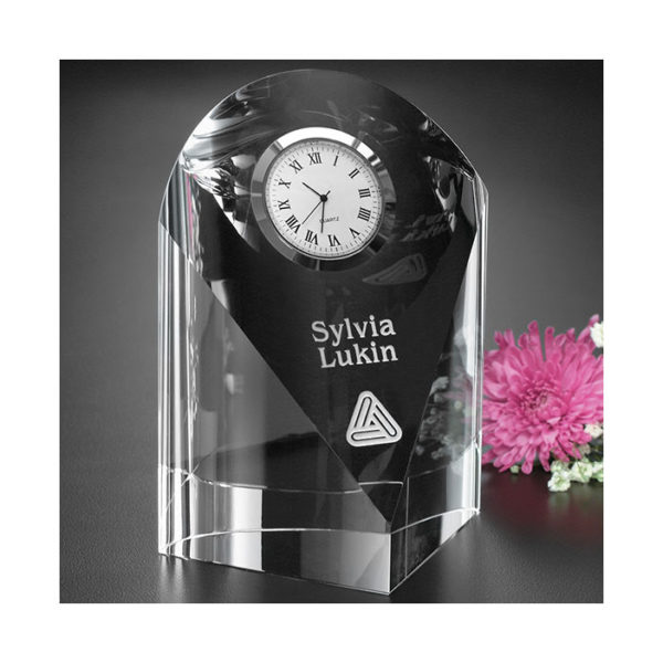 Crystal eternity clock