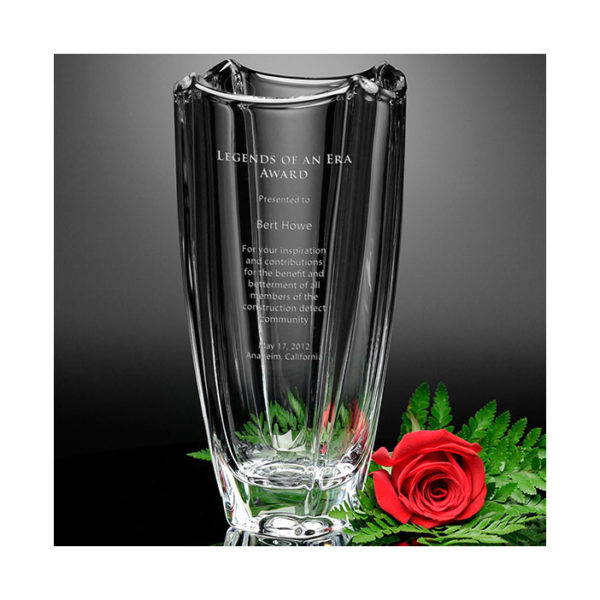 Crystal fairmount vase