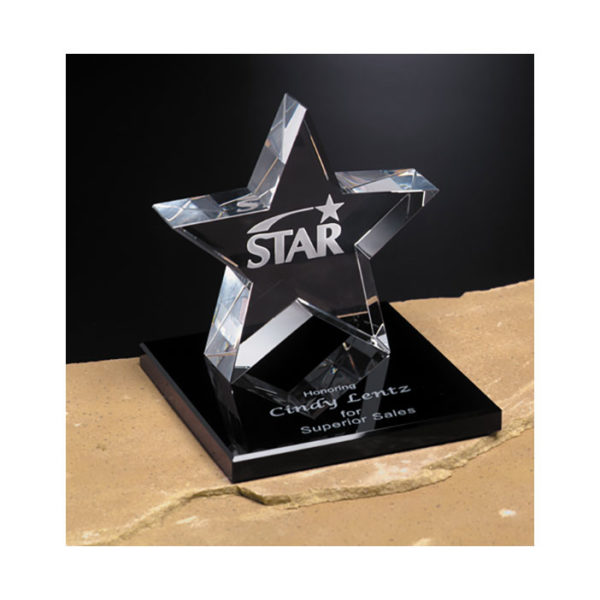 Crystal tapered star