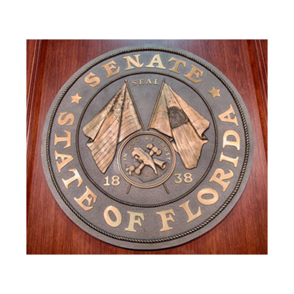 Bronze brz_inst_florida_state_seal_senate