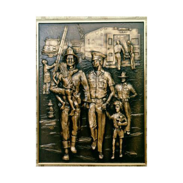 Bronze emergency_services_bas_relief